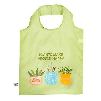 Sass & Belle Plants ovat ystäväni taitettava ostoskassi