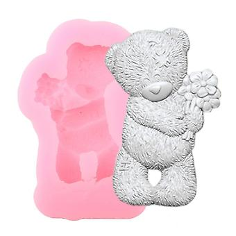 Cute Bear Silicone Clay Chocolate Molds