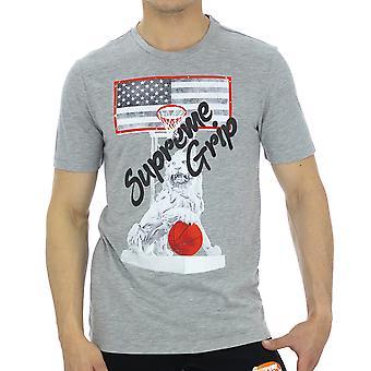 Supreme Grip Men T-Shirt Civic Grey