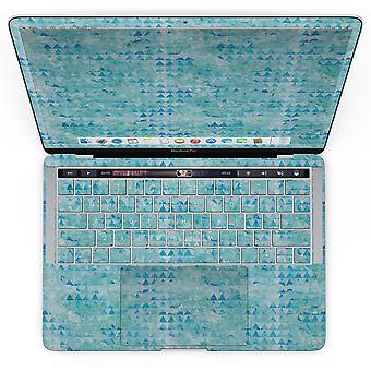 Model triunghi texturat albastru - Macbook Pro cu kit de piele touch bar