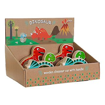 Wooden Game DKD Home Decor Dinosaurs (3 pcs)