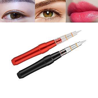עט חדש של מכונת קעקועים מיקרובליידינג חשמלית 2 צבעים