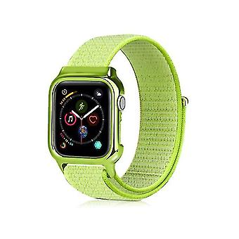 Enkele nylon horlogeband met lunette voor Apple Watch-serie 5 en 4 44 mm kleur2
