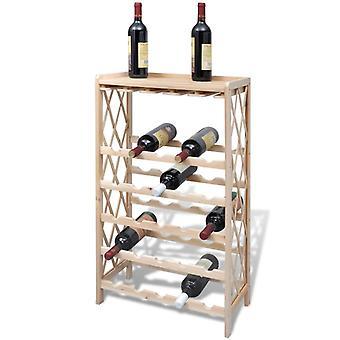 vidaXL винный стеллаж на 25 бутылок из массива пихтового дерева