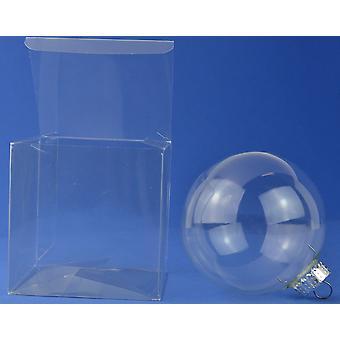 10 acetat Cube box præsentations kasser til gaver eller kugler 12cm