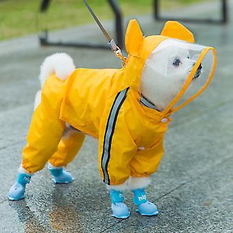 Kjæledyr Katt Hund Regnfrakk Hette Reflekterende Valp Hund Regn Frakk Utendørs