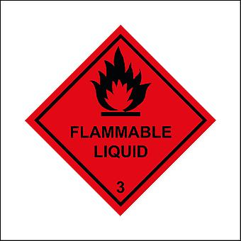 HA035 Flammable Liquid Sign with Fire
