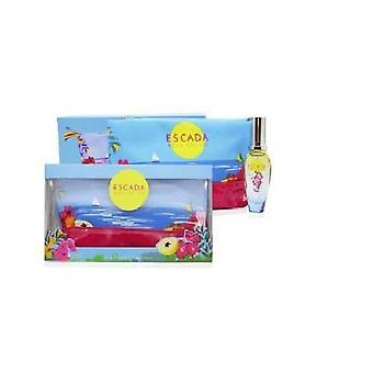 Escada agua del sol set regalo 30ml edt bolsa cosmética