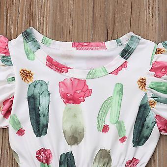 Baby Kids Baby Bloemen Vliegende Mouwen Bodysuit