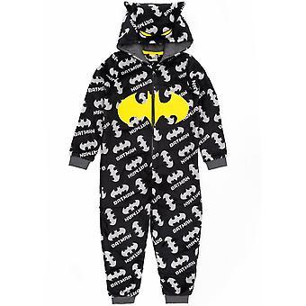 دي سي كوميك باتمان بيجامة الكل في واحد الأولاد | الاطفال فارس الظلام فيلم أسود النوم بدلة | الأطفال لينة رقيق Pjs