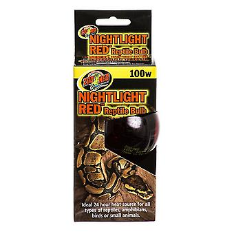 Zoo Med Nightlight Red Reptile Bulb - 100 Watts