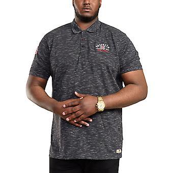 Duke D555 Mens Clawton Big Tall Kingsize Brooklyn Friidrott Polo Shirt - Grå