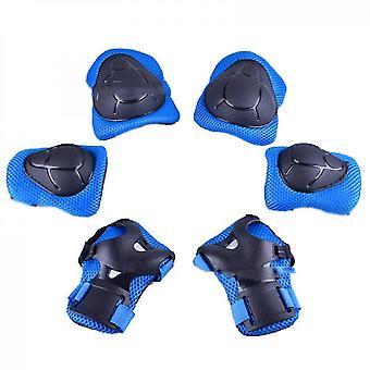Ginocchiere per bambini con set di ingranaggi protettivi per bambini (blu)