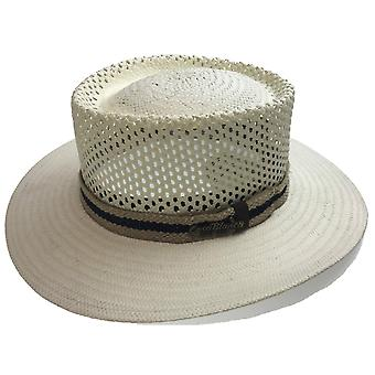 Natural straw panama hat fedora summer trilby sun made in usa
