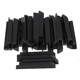 Pianos 36pcs أسود PVC البيانو لوحة المفاتيح الرئيسية أعلى أجزاء حادة ق لاستبدال البيانو ppm-3989