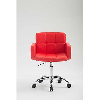 Chaise de bureau - Chaise de bureau - Bureau à domicile - Moderne - Rouge - Métal