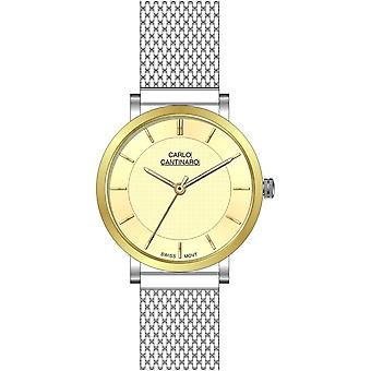 Carlo Cantinaro Two-Tone Stainless Steel CC1001GM014 Men's Watch