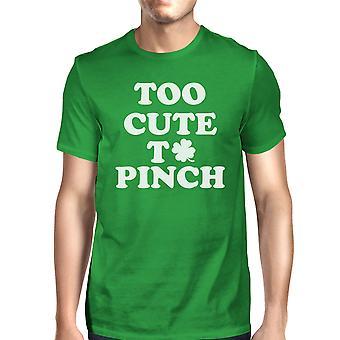 Zbyt ładny, szczypta Patrick zabawny zielony T-shirt męski na dzień koszulce