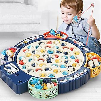 Fishing toys fishing toy children electric musical rotating board play fish game magnetic fish outdoor toys