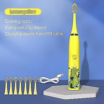 Diozo ääni lasten sähköhammasharja dupont pehmeä harjakset pieni harjas pää älykäs hammasharja