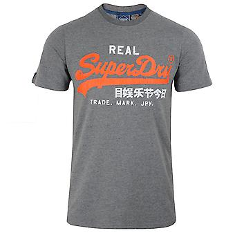 Superdry miesten rikas hiili marl logo t-paita