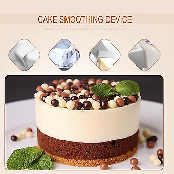 White Practical Cake Smoother Sharp Top Edger Decorating Diy Tool Supply