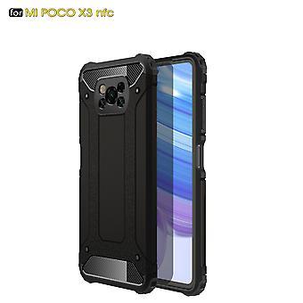Case For Xiaomi Poco X3 Nfc Flip Protective Handytasche Case Etui Military Shockproof Bumper - Black
