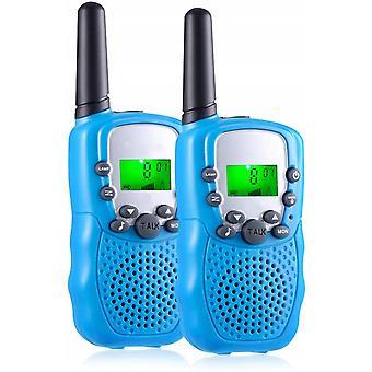Walkie Talkies, niños 22 canales Radio bidireccional para niños Juguetes de largo alcance con pantalla LCD retroiluminada y linterna Walkie Talkies para niños niñas a Campi