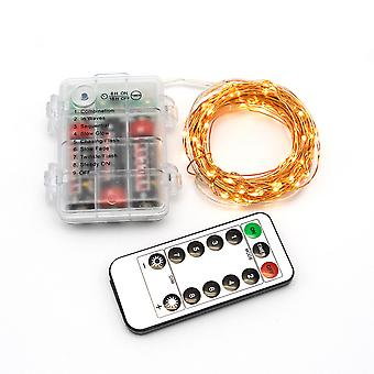8-funkčný svetelný reťazec 3aa vodotesný batériový box