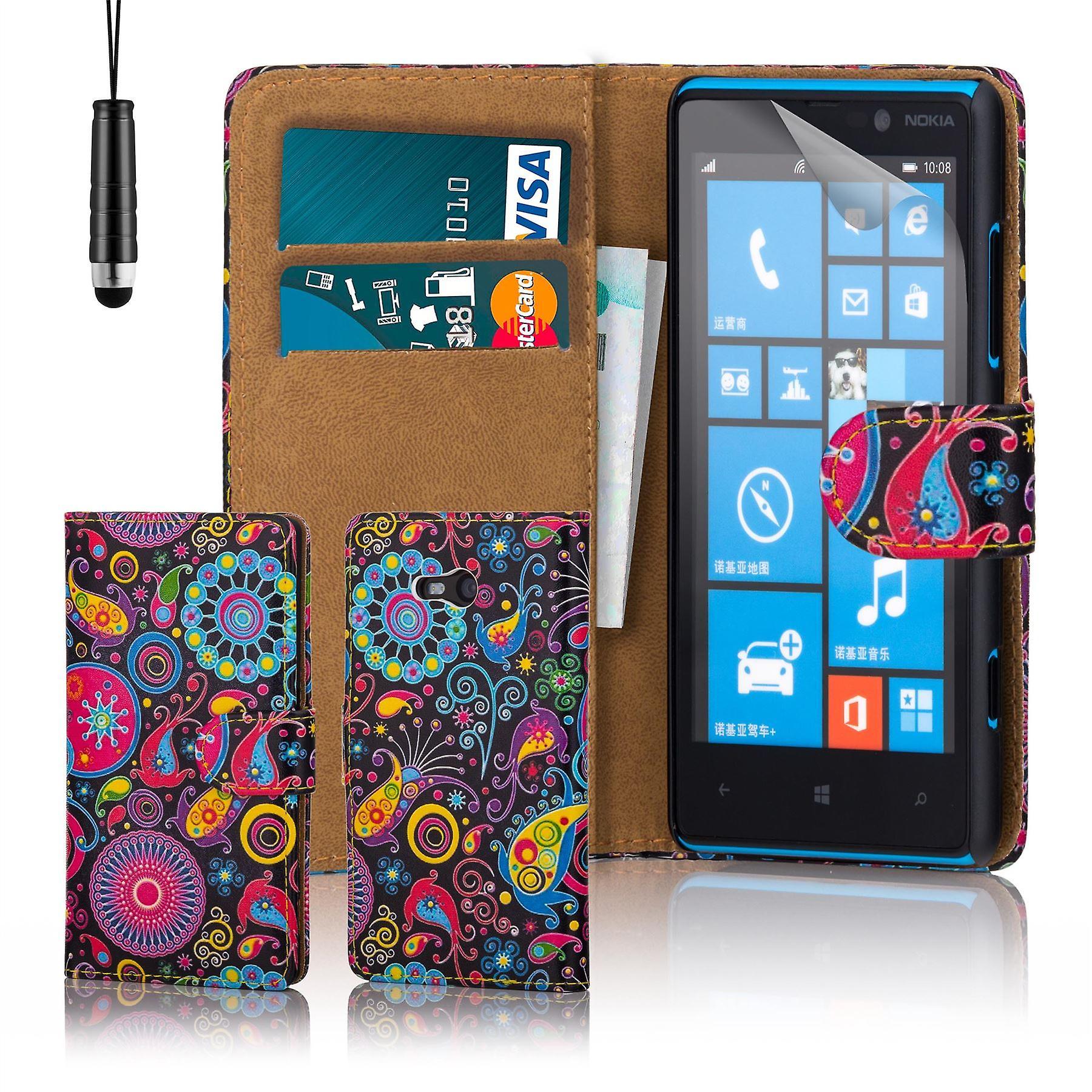 Design book PU leather case cover for Nokia Lumia 820 - Jellyfish
