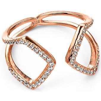 925 серебряные розового золота покрытием цирконий кольцо тенденции и