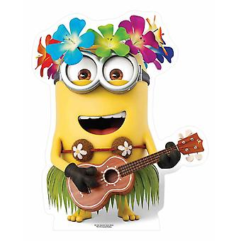 Hawaiian Minion with Guitar Mini Cardboard Cutout / Standee / Stand up