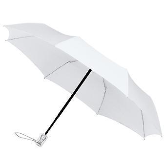 AMOS Auto Avaa & lähellä kokoontaitettava sateenvarjo - valkoinen
