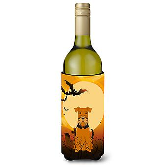 Halloween Airedale Wine Bottle Beverge Insulator Hugger