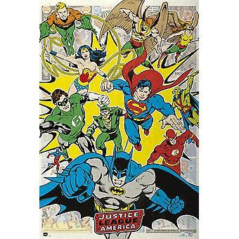 DC Comic supersankareita Justice League Of America Dcorg juliste Juliste Tulosta