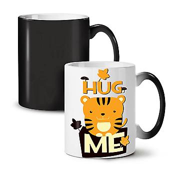 Hug Me Adorable Animal NEW Black Colour Changing Tea Coffee Ceramic Mug 11 oz | Wellcoda