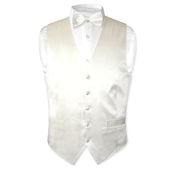 Biagio Men's SILK Dress Vest & Bow Tie BowTie Set