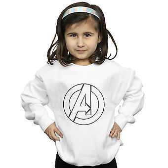 Marvel Girls Avenegers Assemble A Logo Outline Sweatshirt