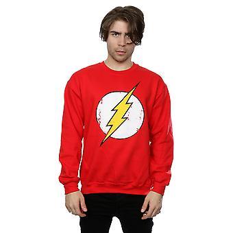 DC كاريكاتير الرجال & apos;s فلاش قميص شعار بالأسى