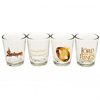 Lord van de ringen 4pk Shot glas Set
