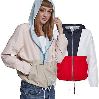 Urban classics ladies - 3-tone oversize of windbreaker jacket