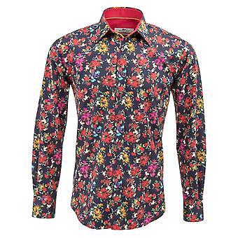 Клаудио Lugli ВМС Печать Роуз Мужская рубашка