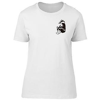 Oberseite sitzen Badger T-Shirt Herren-Bild von Shutterstock