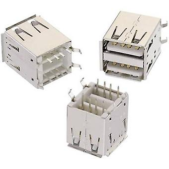 USB Typ A, 2-Wege WR-COM-Buchse, senkrechte vertikale WR-COM Würth Elektronik Content stehen: 1 PC