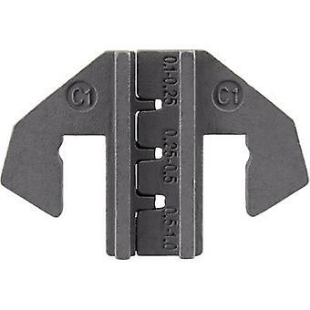 TOOLCRAFT PLE-0C1 Crimping Bits Terminales de la hoja Zona de crimpado: 0.1 hasta 1 mm2 Adecuado para la marca: TOOLCRAFT PZ-500