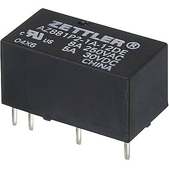 Zettler Electronics AZ881-2A-12DEA PCB relay 12 V DC 5 A 2 makers 1 pc(s)