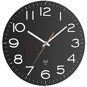 TFA Dostmann 60.3509 Radio Wall clock 300 mm x 40 mm Black