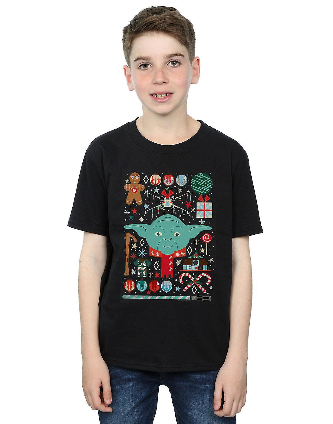 Star Wars Boys Yoda Christmas T-Shirt