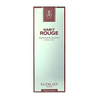 Guerlain Habit Rouge Light Eau De Toilette Spray 3.4Oz/100 ml In Box
