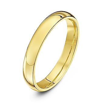 Star Wedding Rings 9ct Yellow Gold Extra Heavy Court Shape 3mm Wedding Ring
